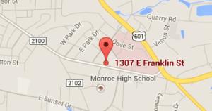 monroe-family-dentistry-map