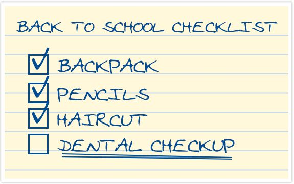 BACK TO SCHOOL DENTIST APPOINTMENT